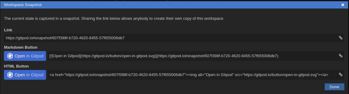 Workspace Snapshot